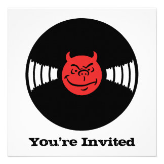 Musical Devil Personalized Invites