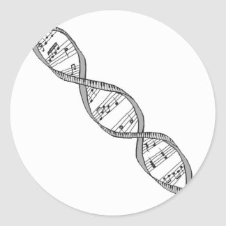 Musical DNA Classic Round Sticker