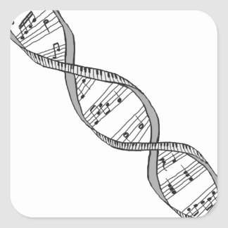 Musical DNA Square Sticker