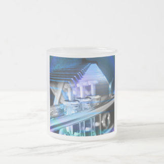 Musical Duet Blue Frosted Glass Coffee Mug