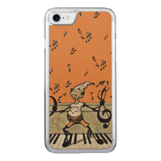 Musical Elf Goblin Piano Music Notes Carved iPhone 8/7 Case