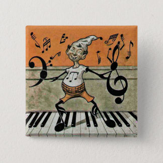 Musical Elf Note on Piano Button