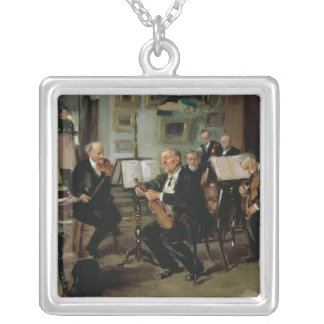 Musical Evening, 1906 Silver Plated Necklace