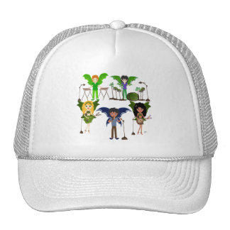 Musical Faerie Band in Enchanting Field Cap