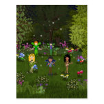Musical Faerie Band in Enchanting Forest Post Cards