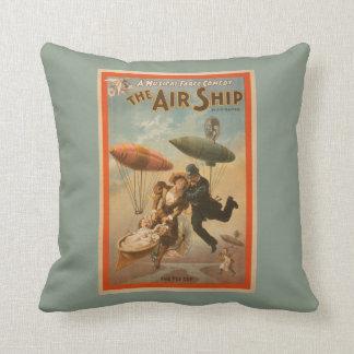 Musical Farce Comedy, The Air Ship Theatre 2 Throw Pillow