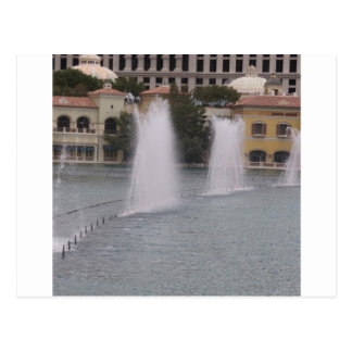 MUSICAL Fountains New LAS VEGAS Canal Buildings Postcard