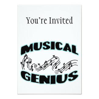 Musical Genius Music Notes 13 Cm X 18 Cm Invitation Card