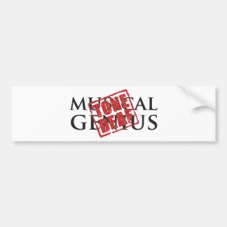 Musical genius: tone deaf rubber stamp bumper sticker