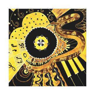 Musical Gold. Canvas Print