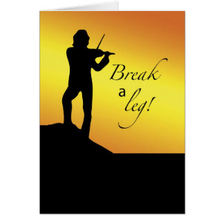 Musical Good Luck Break a Let Fiddler Roof Greeting Cards
