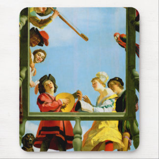 Musical Group on Balcony Painting Mousepad