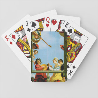Musical Group on Balcony Painting Playing Cards