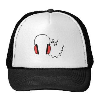 Musical Headphones Mesh Hats
