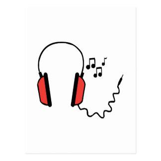 Musical Headphones Post Cards