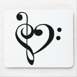 Musical Heart Mouse Mat