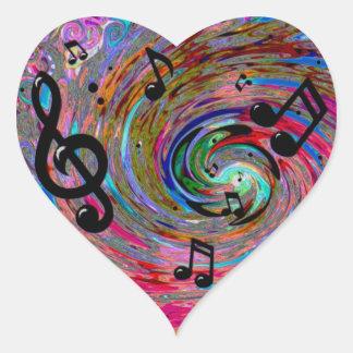 Musical Heart Sticker