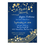 Musical Hearts Bridal Shower Custom Announcements