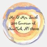 Musical Hemsa Bar Bat Mitzvah Sticker Seal