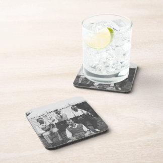 Musical Holiday Black White Hard Plastic Coasters