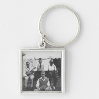 Musical Holiday Vintage Premium Square Keychain