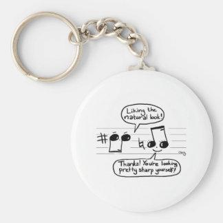 Musical Humour Cartoon Basic Round Button Key Ring