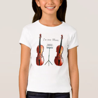 Musical image for Girls-Baby-doll-T-Shirt-White T-Shirt