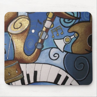 Musical Instrument Abstract Mouse Pad