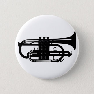 Musical instrument cornet - Musicians 6 Cm Round Badge