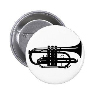 Musical instrument cornet - Musicians Buttons