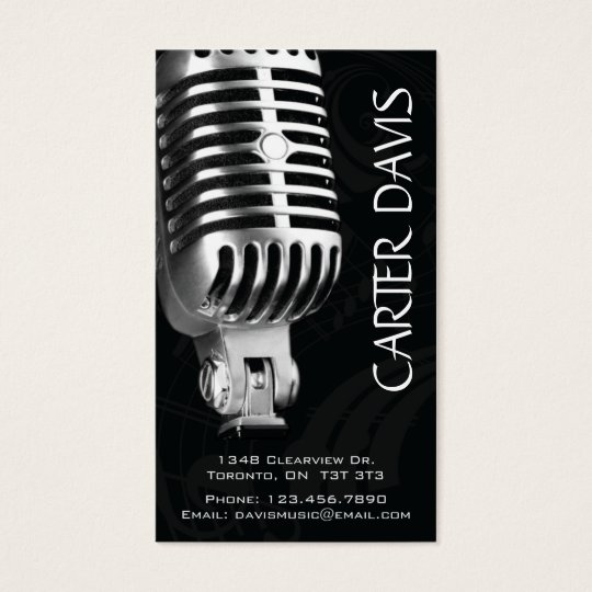 Musical Instrument - Mic Business Card