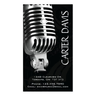 Musical Instrument - Mic Business Card Templates