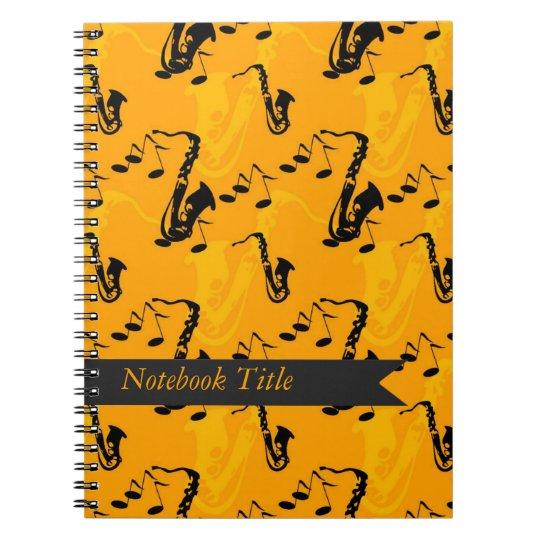 Musical Instrument Saxaphone Journal Notebook