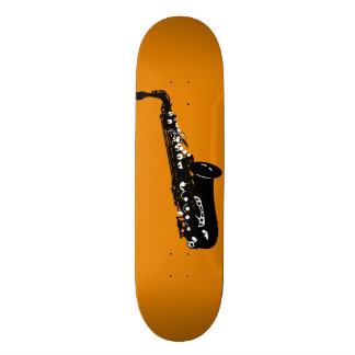Musical instrument saxophone musicians designs custom skateboard