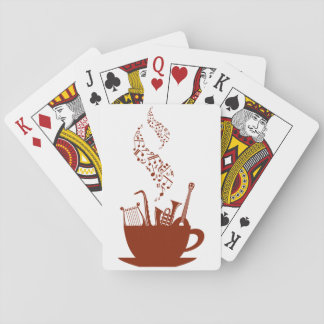 Musical Instruments And Notes Playing Cards