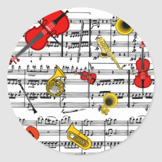 musical instruments copy.pdf classic round sticker