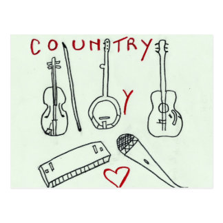 MUSICAL INSTRUMENTS COUNTRY jpg Postcards