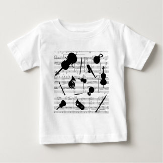 musical instruments grayscale copy.pdf baby T-Shirt