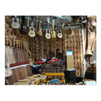 Musical Instruments - Machu Picchu - Perú Postcard