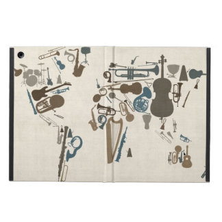 Musical Instruments Map of the World iPad Air Case