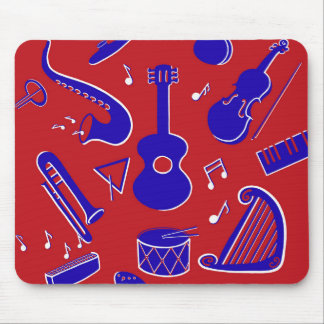 Musical Instruments Mouse Mat