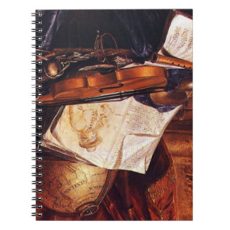 Musical Instruments Painting Vintage Notebook