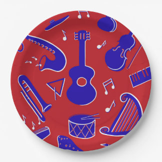 Musical Instruments Paper Plate