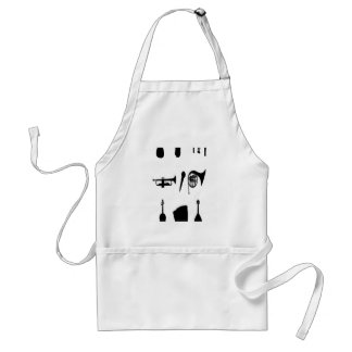 Musical instruments silhouettes design aprons