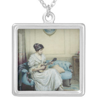 Musical interlude, 1917 silver plated necklace