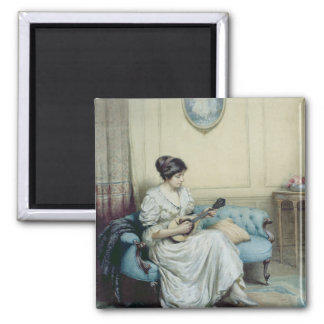 Musical interlude, 1917 square magnet