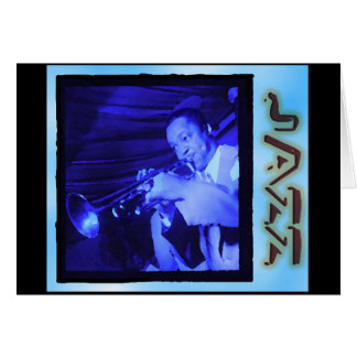 Musical Interludes: Vintage Jazz Greeting Card