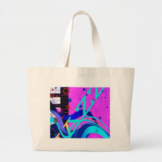 Musical Jazz Style Background Large Tote Bag