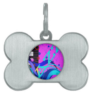 Musical Jazz Style Background Pet ID Tags