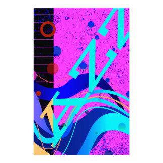 Musical Jazz Style Background Stationery